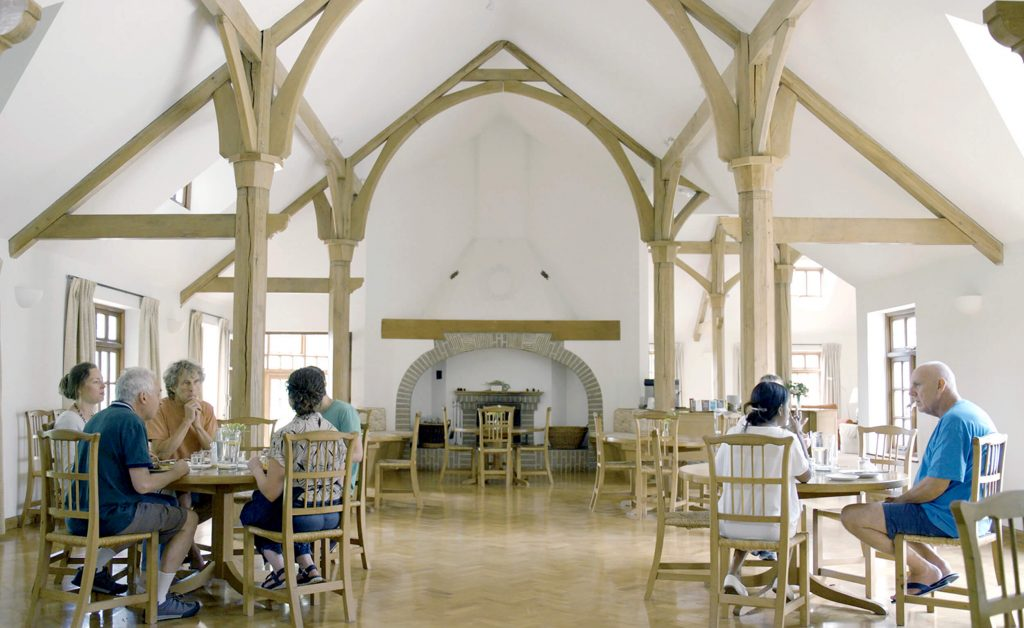 The dining hall at the Krishnamurti Centre
