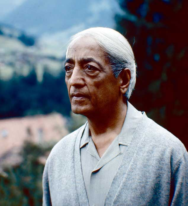 Portrait of Krishnamurti