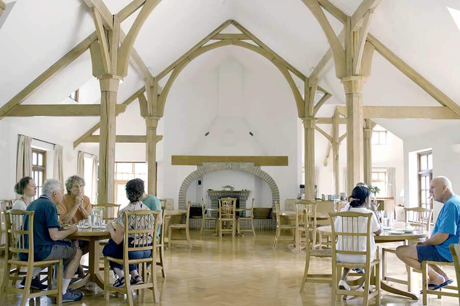 Dining hall at the Krishnamurti Centre