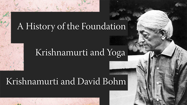 Banner for Krishnamurti Featured Articles