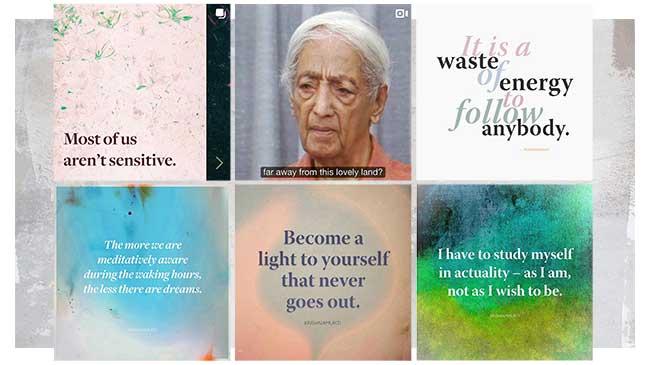 Krishnamurti visual quotes