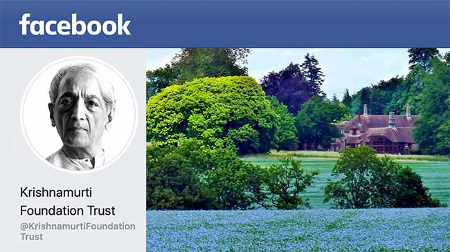 Facebook page of Krishnamurti Foundation Trust