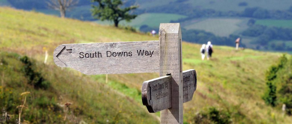 The South Downs Way in the South Downs National Park