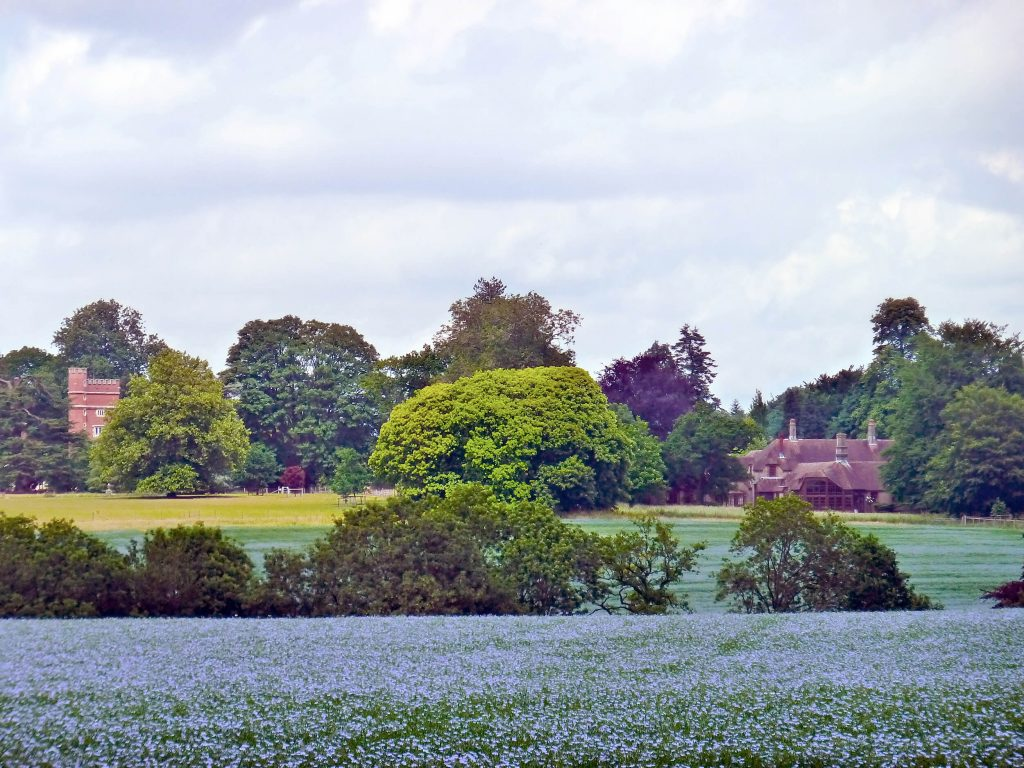 The grounds at Brockwood Park, Hampshire, UK