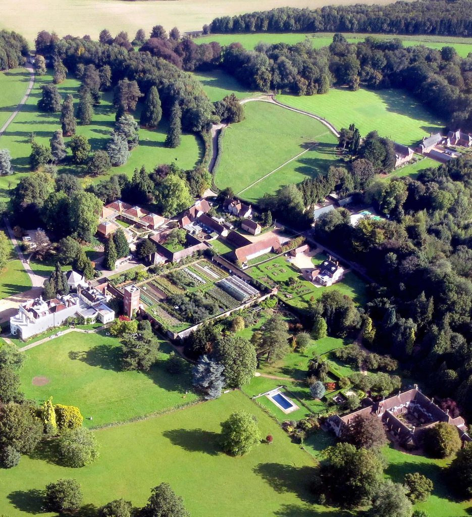 Aerial view of Brockwood Park, home to the Krishnamurti Centre