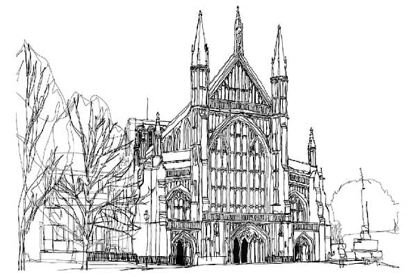 Illustration of Winchester cathedral