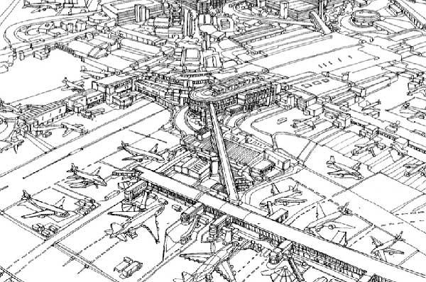 Illustration of Heathrow airport
